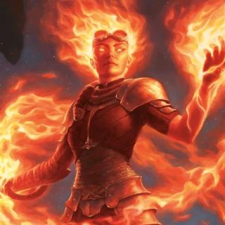Chandra, Awakened Inferno Art by Chris Rahn