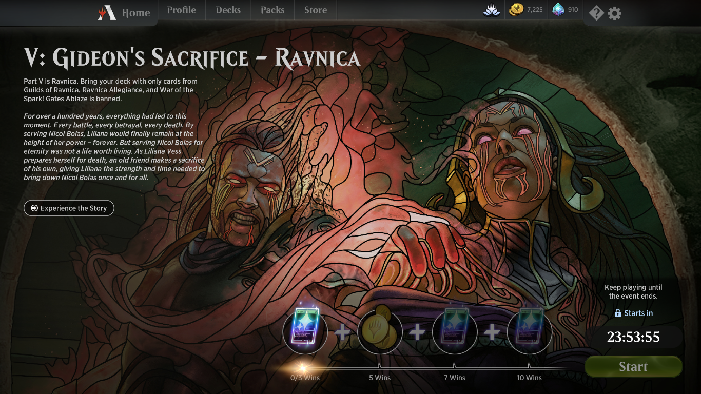 Gideon's Sacrifice Ravnica Constructed Part V Event Decklists and