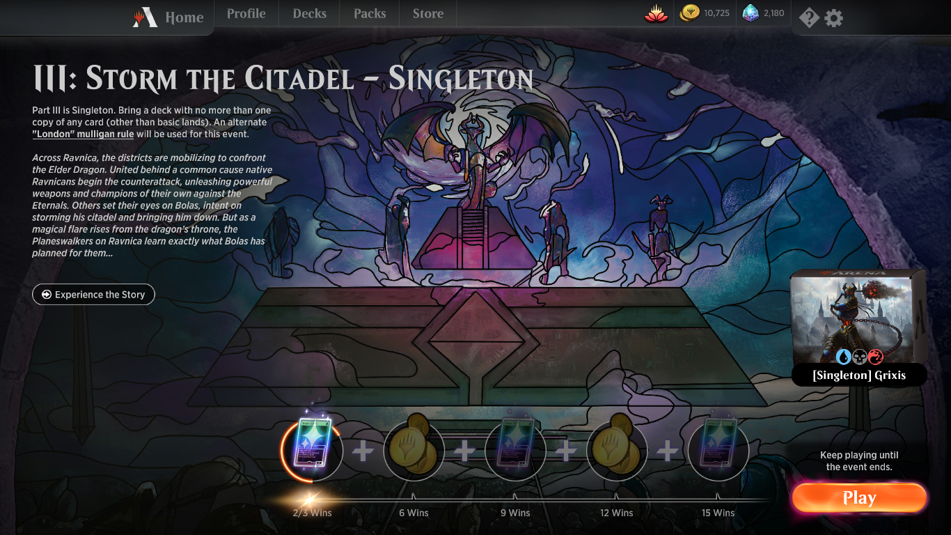 Guide to Part III: Storm the Citadel - Singleton • MTG Arena Zone