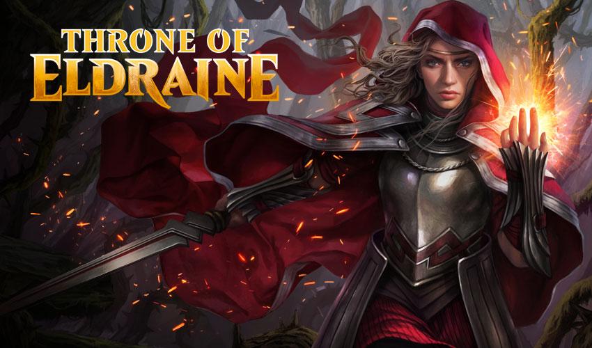 Human Warlock Rare CHITTERING WITCH Throne of Eldraine MTG Black Creature