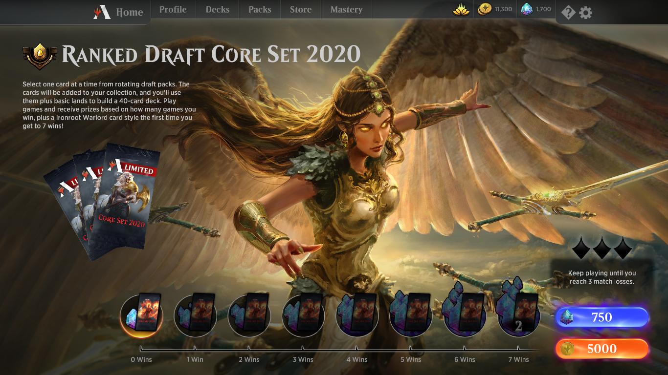 Mtg Banned List 2020.Ranked Draft Core Set 2020 Mtg Arena Event Mtg Arena Zone