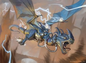Crackling-Drake-Guilds-of-Ravnica-MtG-Art