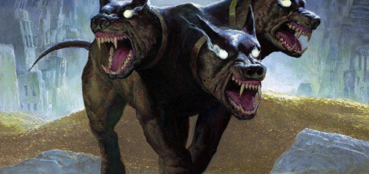 Kunoros-Hound-of-Athreos-Theros-Beyond-Death-Art
